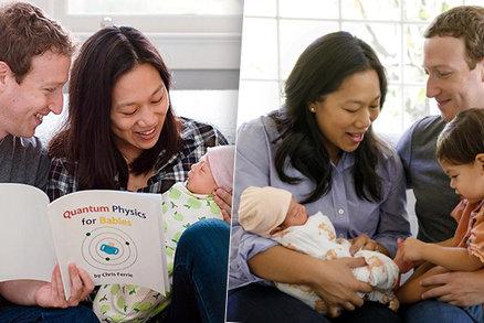 Zakladatel Facebooku je podruhé otcem: Zuckerbergovi se narodila holčička August