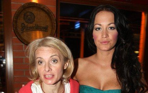 Agáta s matkou Veronikou Žilkovou.
