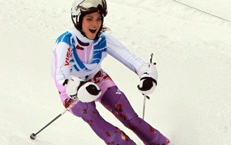 Andrea Verešová to tentokrat na lyžích nezvládla.