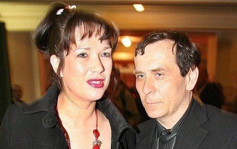 Tereza Kostková s Petrem Kracikem.