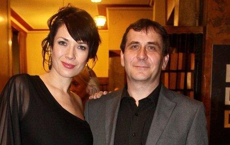 Tereza Kostková s partnerem Petrem Kracikem.