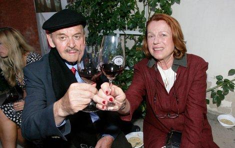 Stanislav Remunda s Ivou Janžurovou v červnu 2007