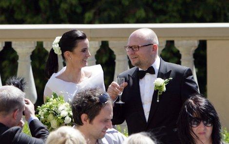 S manželem Milanem Kožíškem.