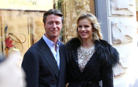 Herzigová s partnerem