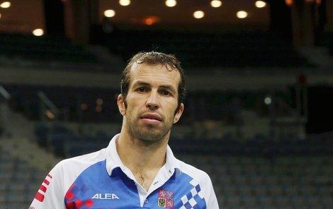 Radek Štěpánek má na finále připravené originální tričko.