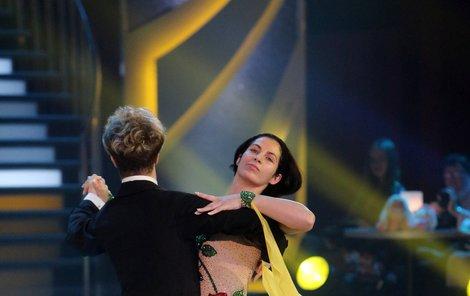 S partnerem Janem Onderem na tanečním parketu.