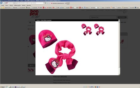 Dětská souprava Hello Kitty, Bonprix 299 Kč