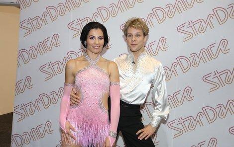 Kateřina s tanečním partnerem