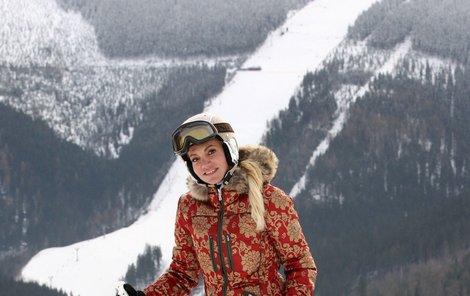 I nabalená v zimním oblečení vypadá Dara božsky.