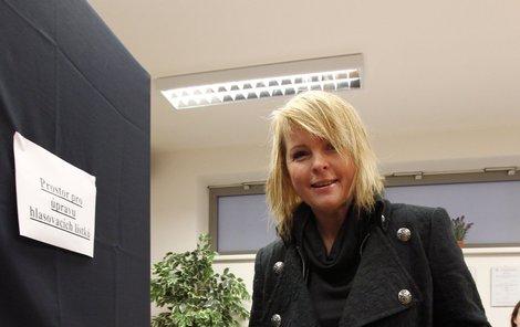 Bartošová byla při volbě prezidenta ve vynikající náladě.