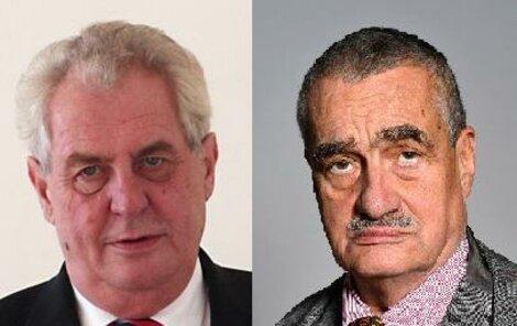 Zeman a Schwarzenberg se utkají o trůn