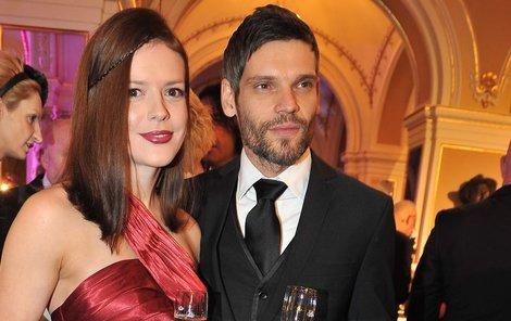 Andrea Kerestešová s přítelem Mikolášem Růžičkou.