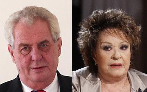 Předvolební spolupráce Zemana a Bohdalové zřejmě trochu skřípe.