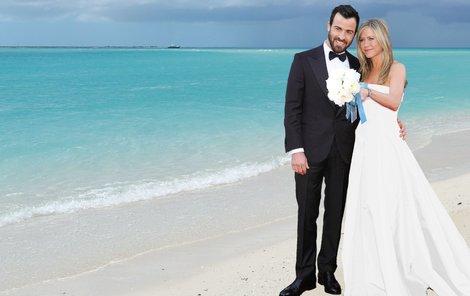 Romantická svatba na pláži? Ne, jen fotomontáž!