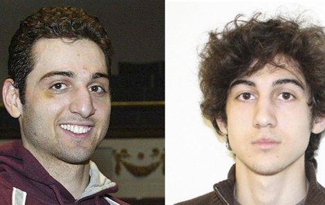 Tamerlan Carnajev (vlevo) a jeho bratr Džochar mají podle vyšetřovatelů na svědomí krveprolití na maratonu v Bostonu