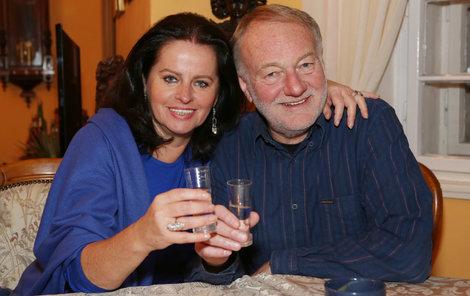 Luděk Sobota s manželkou Adrienou za sebou mají hodně vypečeného Silvestra.