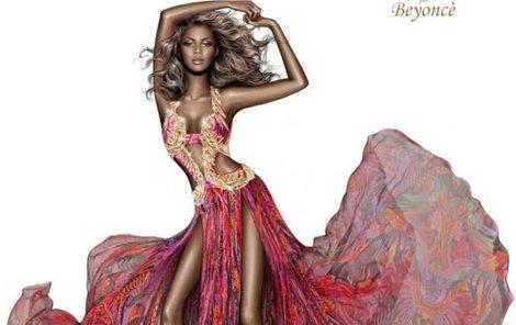 Na návrhu od Cavalliho je Beyoncé jen hubené ramínko.