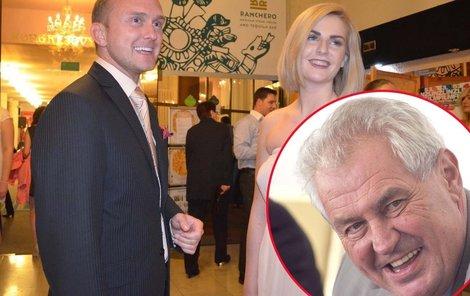 Miloš Zeman katce partnera schvaluje