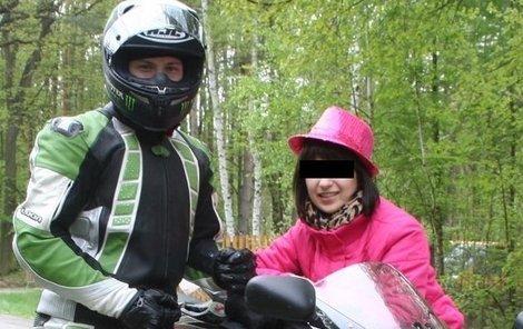 Zavražděná Markétka s přítelem Pavlem N., který je obviněn z vraždy.