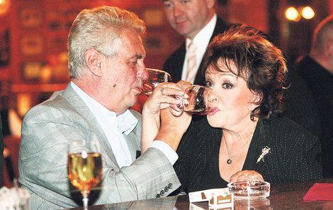 Bohdalová podpořila Zemana v prezidentské kampani.