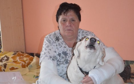 """""""Jedinou oporou je pro mě můj pes Majda,"""" tvrdí Marcela Denemarková."""
