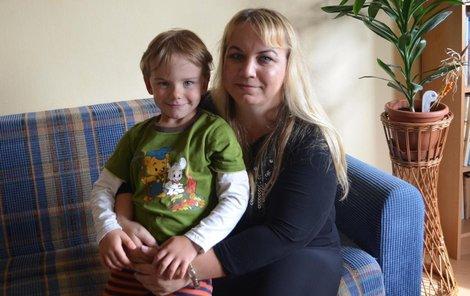 Jana Kuželková se synem Vládíkem.