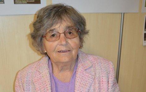 """""""Důchodci to nemají jednoduché,"""" říká Marie Kozumplíková."""