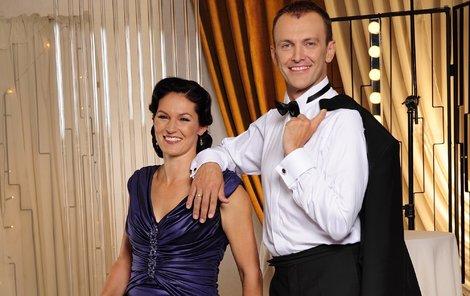 Šárka Kašpárková s Janem Tománkem tvoří krásný taneční pár.