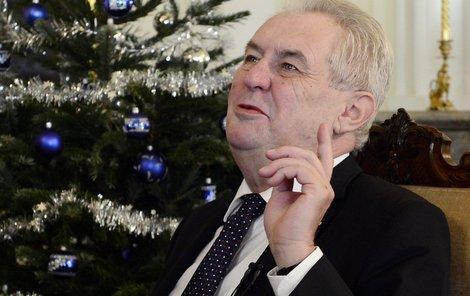 Miloš Zeman při včerejším vystoupení.