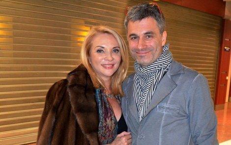 Zdena Studenková s přítelem Braněm Kostkou.