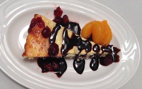 Tvarohový koláč s brusinkami podle Daniely Matunové