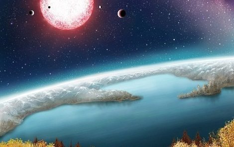 Tak by mohlo podle umělců vypadat prostředí na Kepleru-186F.