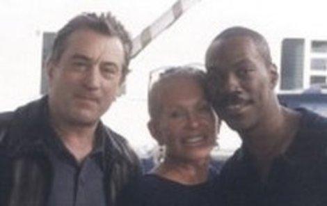 Ilona Herman s kamarádem Robertem De Nirem a Eddiem Murphym.