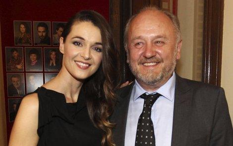 Iva Kubelková s manželem.