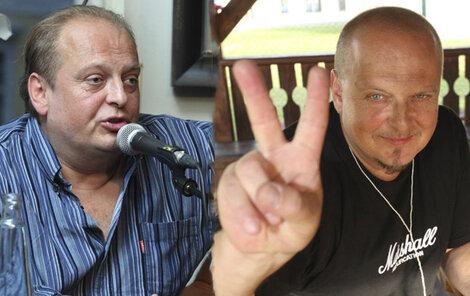 Láďa před rokem (vlevo) a dnes, kdy se z rckového opilce stal kostelním ministrantem.