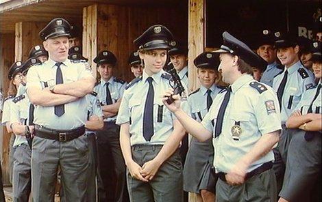 Frekventanti policejní akademie byli veselá kopa.