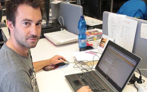 Pavel v práci.