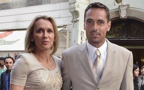 Roman Šebrle a jeho manželka Eva.
