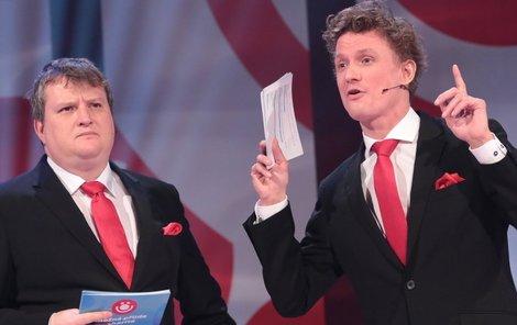 Tomáš a Tomáš společně uváděli pořad v České televizi.