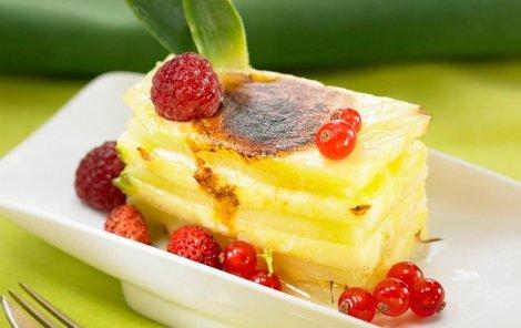 Lasagne s pudinkem a ovocem podle Evy Gálové