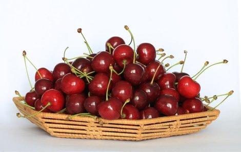 Višně mají lehce nakyslou chuť.