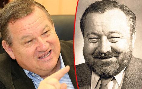 Podobu se slavným otcem Jiří Petrášek nezapře.