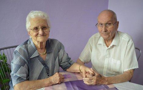 Františka aFrantišek Votavovi spolu byli 80 let, jako manželé 74!