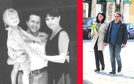 Dáda, její dcera Anička + Vito před lety a dnes.