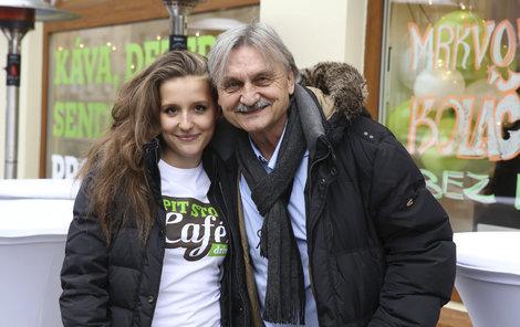 Pavel Soukup se starší dcerou Patricií.