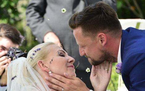 Moderátor Honza Smetana s manželkou Evou.