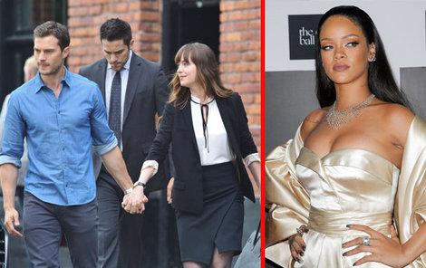 Dornan iDakota Johnson natáčejí poblíž Nice pokračování Padesáti odstínů...Rihanna přistála v Nice jen pár hodin před útokem.