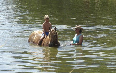 Zdeňka ve vedrech vykoupala syna i koně.