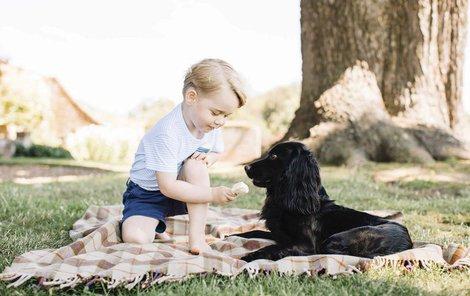 Princ George pár dnů před svými třetími narozeninami.