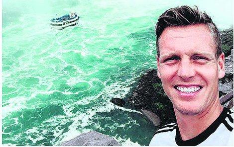 Tomáš Berdych poznával krásu Niagarských vodopádů.